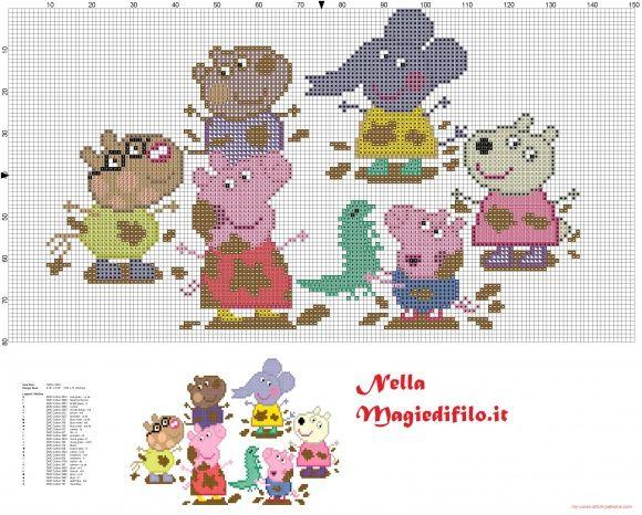 Peppa Pig y sus amigos en el barro