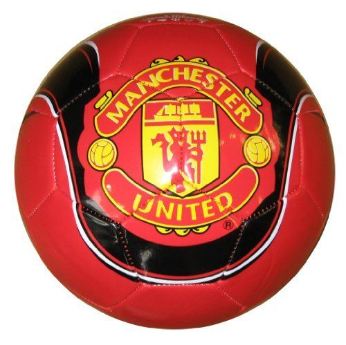 Manchester United Graphic Soccer Ball (size 5) by Rhinox. $22.50. A must have for Manchester United fans.. Official Manchester United Merchandise. Detailed ball design with high gloss finish.. Intricate printing, featuring Manchester United Club Logo and Team Name. Official Size 5 Ball. Officially licensed Manchester United merchandise.  Highly quality PVC cover.  Perfect to display in any case or on any shelf.