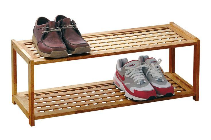 Premier Housewares 2-Tier Wood Shoe Rack - 30 x 79 x 26 cm - Natural: Amazon.co.uk: Kitchen & Home