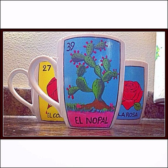 Loteria Coffee Mugs by SenoritaMAD on Etsy