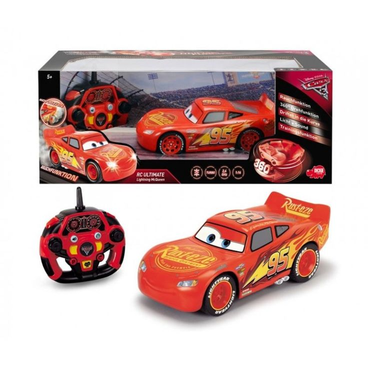 Nowość! Dickie Auta 3 RC Zygzak McQueen 26 cm. Palenie gumy, kręcenie bączków, światła, dźwięk, funkcja manewrowania! Nie znajdziesz różnicy między zabawką a Zygzakiem z bajki! #auta3 #cars #cars3 #zabawki #rccars