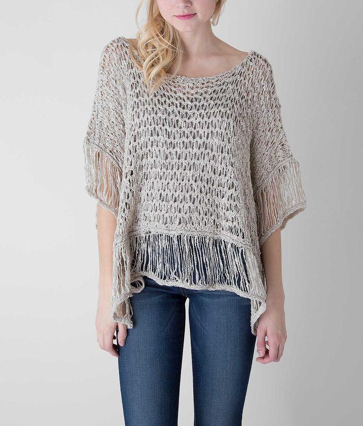 Mystree Open Weave Poncho - Women's Sweaters | Buckle