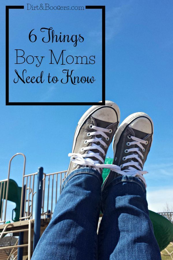 Every Mom of Boys needs to read this - especially #2! 6 things boy moms need to know.