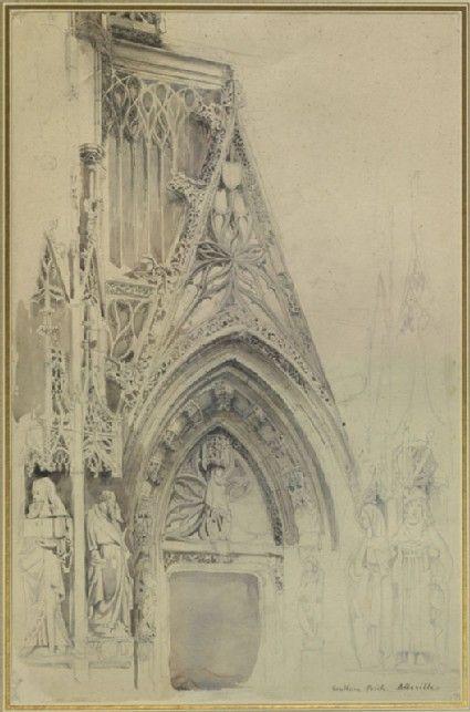 drawing, John Ruskin, 9 August 1848