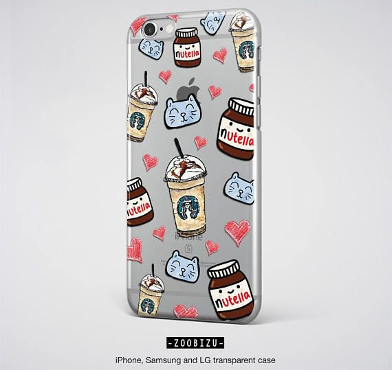 Tumblr Nutella Starbucks iPhone 5, 5S, 6, 6S, 6S PLUS, 7, 7 PLUS, 8, 8 Plus, iPhone X and Samsung Galaxy S8, S8 Plus, S7, S7 Edge, Samsung Note 3, Note 4, Note 5, Note 8, LG G5, LG G6 Case with clear design. - Transparent cases covers top and bottom with all devices. - For all informations