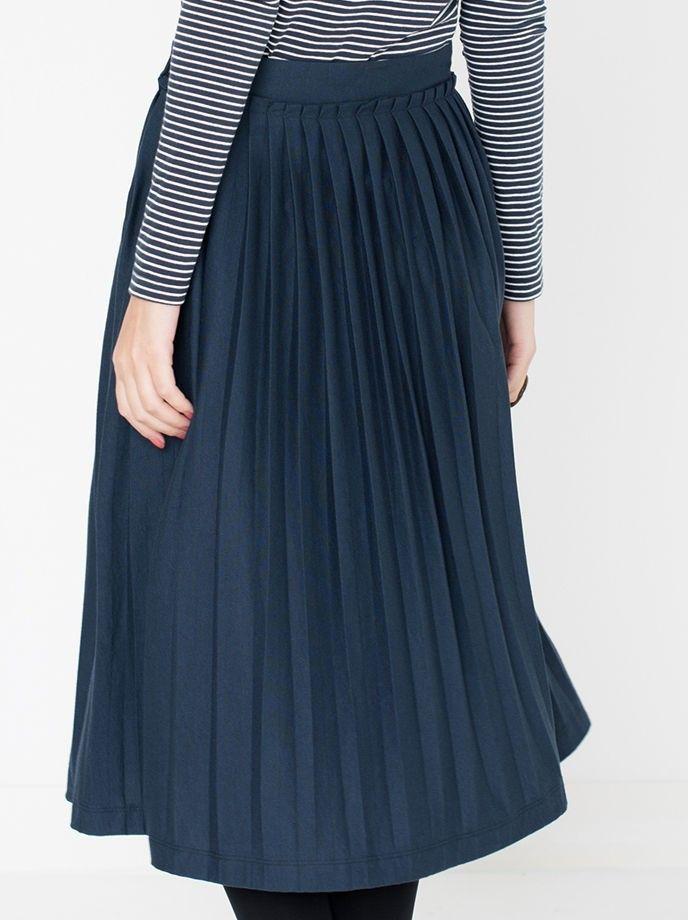 Skirt Jocelyn: Navy - Rokken  - Miss Green