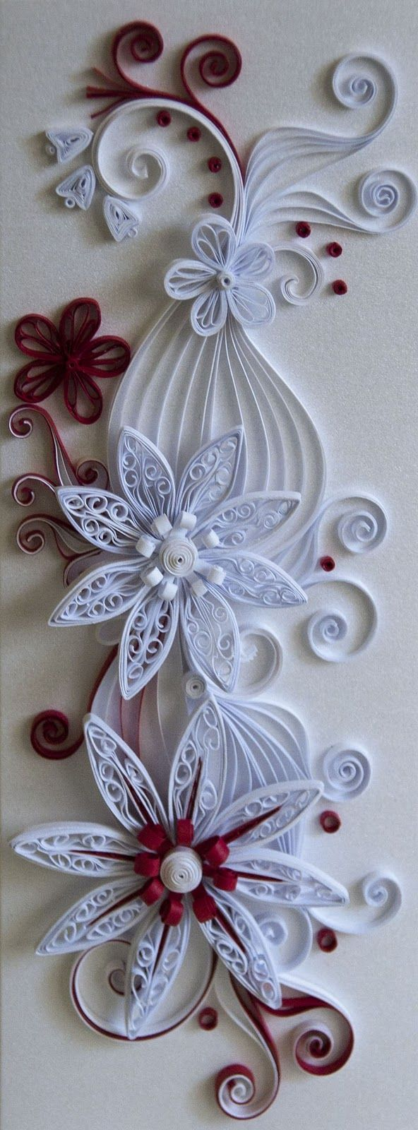 Neli Quilling Art: Quilling cards - old ideas with new colors