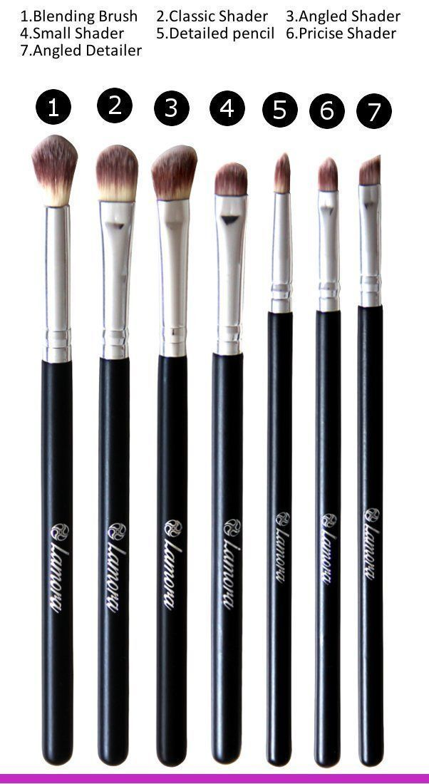 Amazon.com : Eye Brush Set - Eyeshadow Eyeliner Blending Crease Kit - Best Choice 7 Essential Makeup Brushes - Pencil, Shader, Tapered, Definer - Vegan Brushes That Last Longer, Apply Better Makeup & Make You Look Flawless! : Beauty