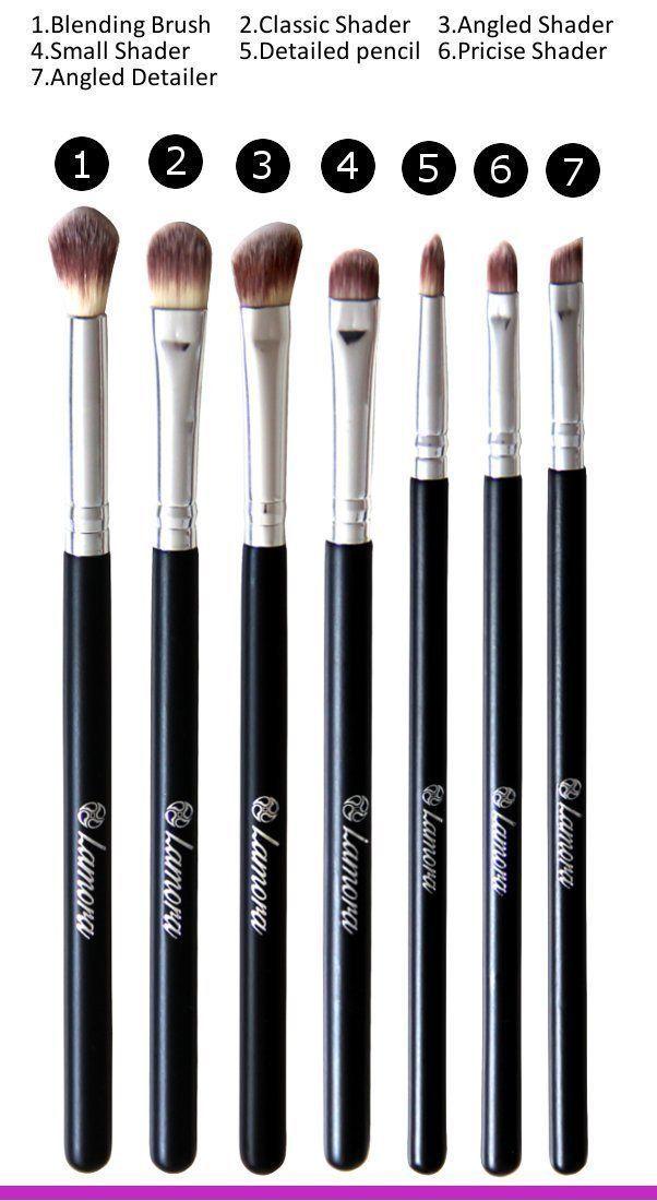 Amazon.com : Eye Brush Set - Eyeshadow Eyeliner Blending Crease Kit - Best Choice 7 Essential Makeup Brushes - Pencil, Shader, Tapered, Definer - Vegan Brushes That Last Longer, Apply Better Makeup & Make You Look Flawless! : Beauty