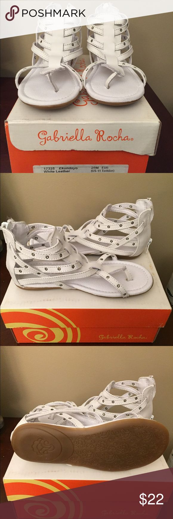 """Gabriella Rocha """"Ekundayo""""Little Girls Sandals Gabriella Rocha """"Ekundayo """"Little Girls Sandals. Adorable white leather sandals for your little girl!! Size 11.New with box!!Feet through size, very comfortable!! Gabriella Rocha Shoes Sandals & Flip Flops"""