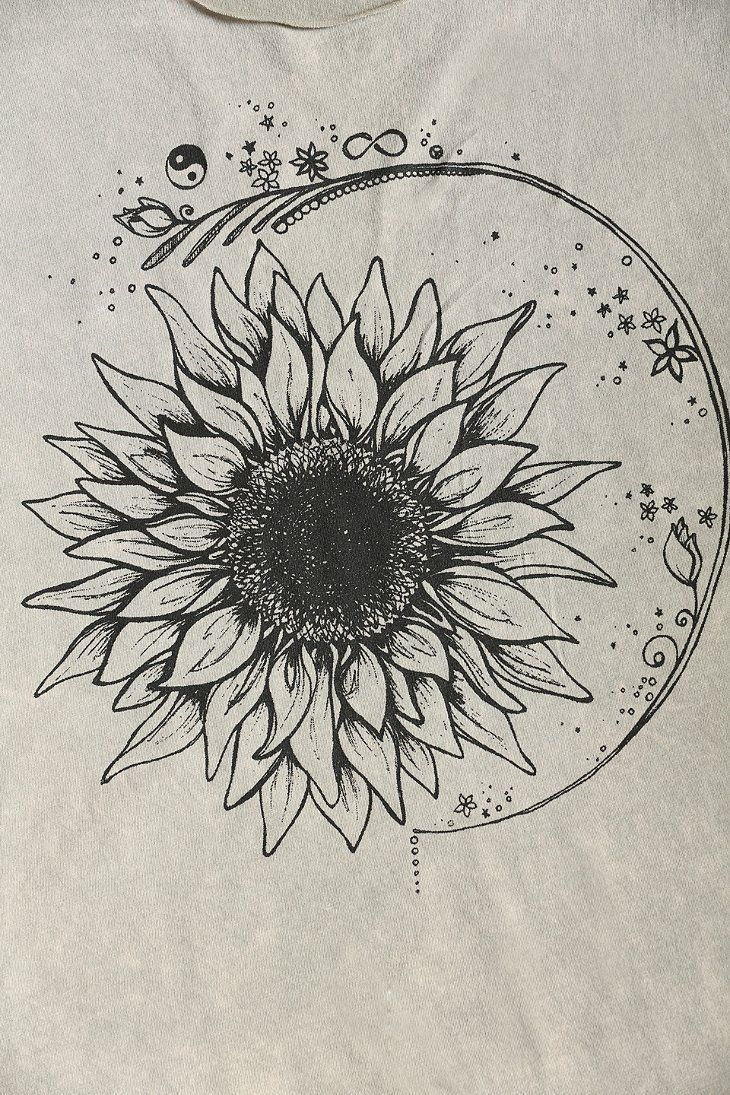 In progress - sunflowers and geraniums for Sofia (technicolorlover) This image is a design for a tattoo. Please respect my client and do not... - Picmia