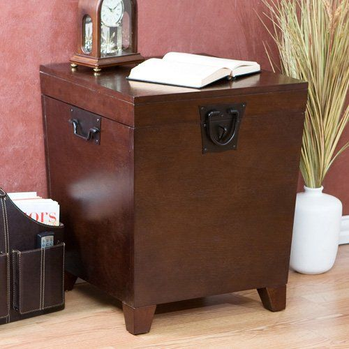 Have to have it. Southern Enterprises Pyramid Trunk End Table - Espresso - $149.99 @hayneedle.com