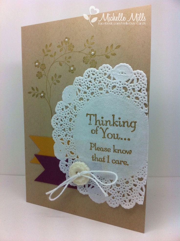 Stampin Up sympathy card