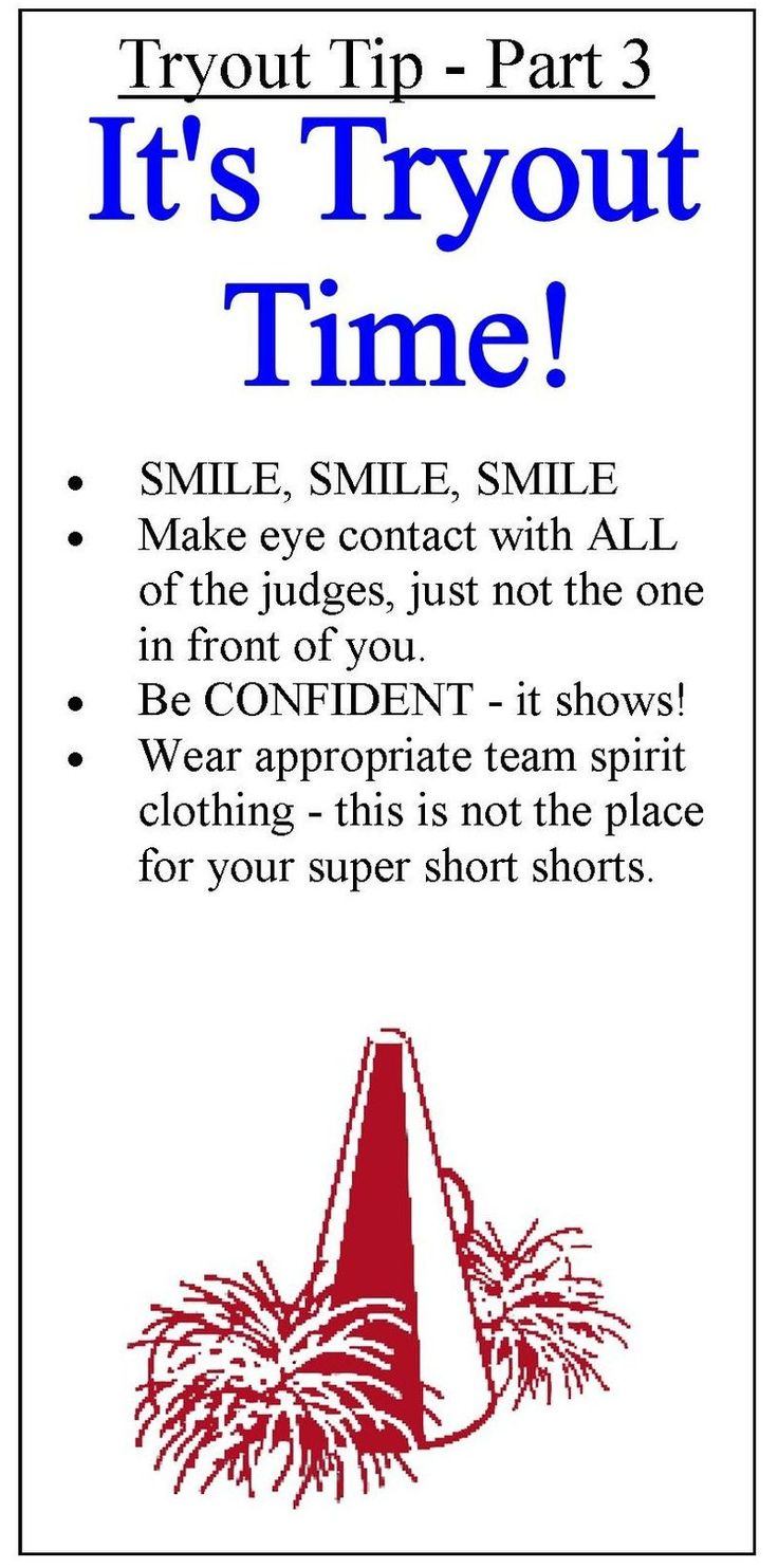 Tryout tips clipart - part 3