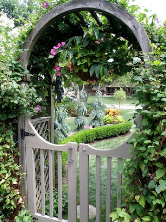 The Moongate With A Western Bent A Half Circle Trellis
