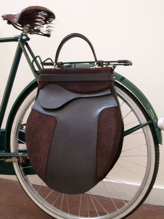 This is gorgeous! Bag by Christina Hamilton I love how it looks like an english horse riding saddle.
