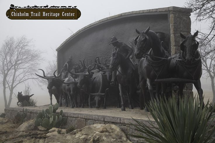 Dec. 2, 2013. A foggy morning on the trail. Chisholm Trail Heritage Center.