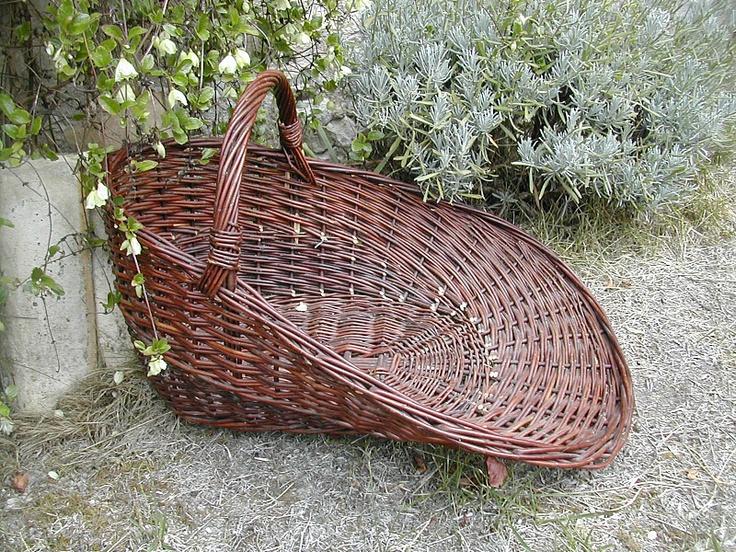 Lavender gathering basket
