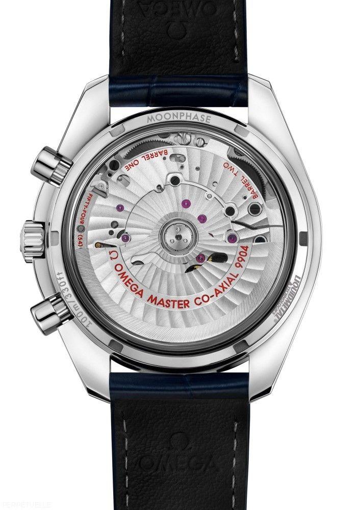 Omega Speedmaster Moonphase Master Chronometer - caseback - Perpetuelle