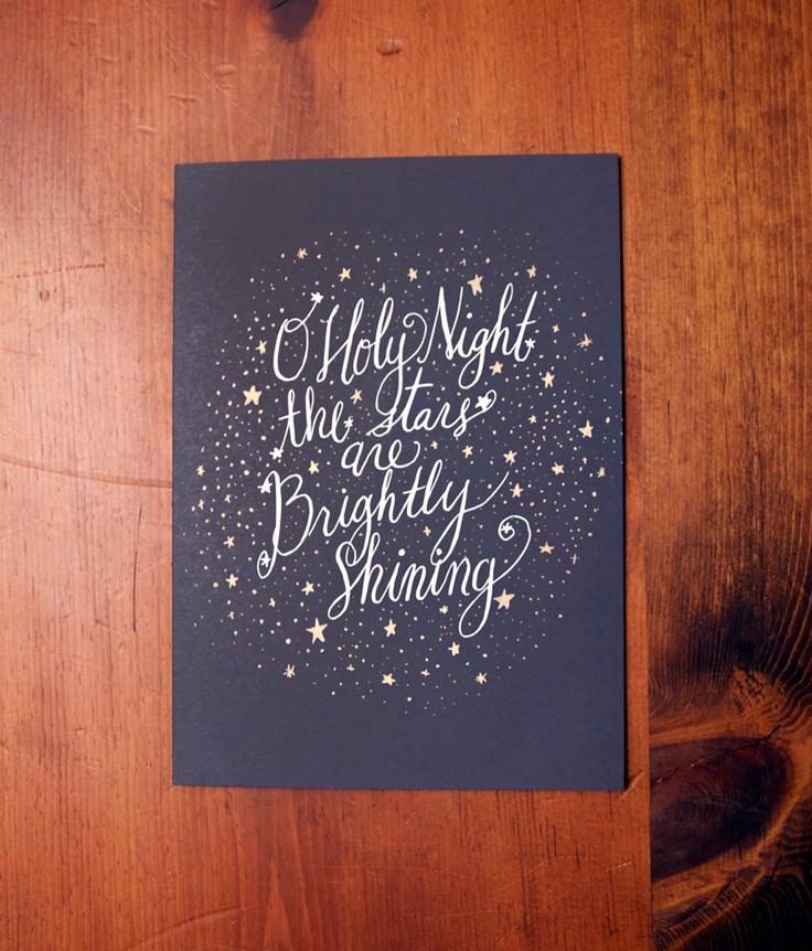 Oh Holy Night Card Set of 8. $20.00, via Etsy.