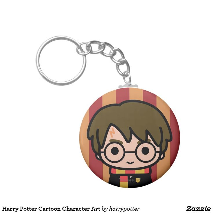 Harry Potter Cartoon Character Art. Regalos, Gifts. #llavero #KeyChain