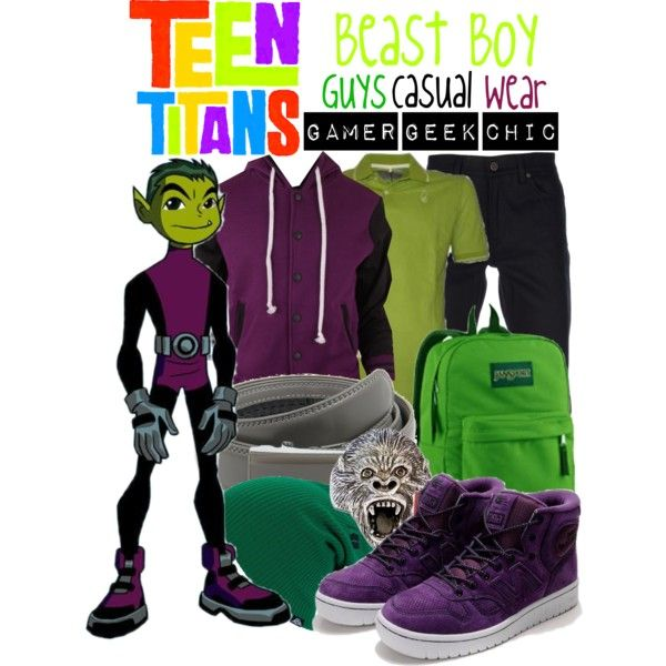 """""""Teen Titans - Beast Boy"""" by gamer-geek-chic on Polyvore"""