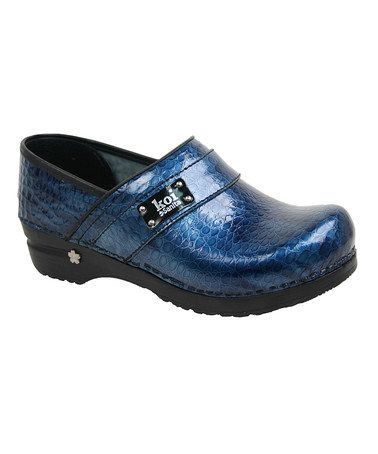 Look what I found on #zulily! Navy Lindsey Fae Leather Clog #zulilyfinds