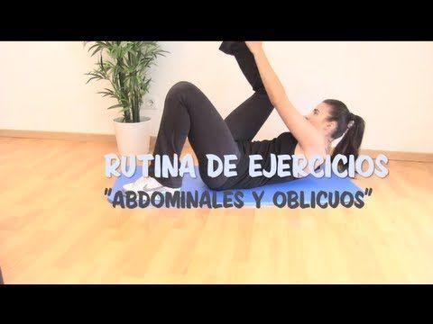 VIENTRE PLANO  Rutina de ejercicios de abdominales y oblicuos.