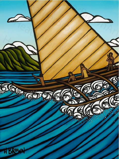 Hawaiian Surf Art of Heather Brown