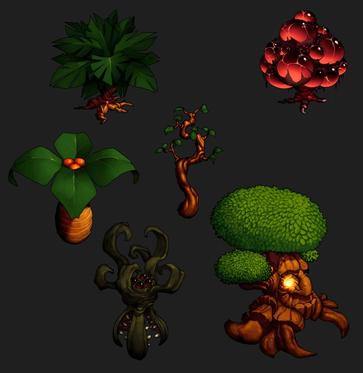 Game assets tree design