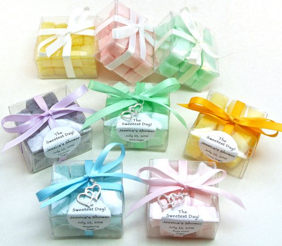 Sugar Cube Favor 15 Wedding Sugar Cube Favors Shower Tea