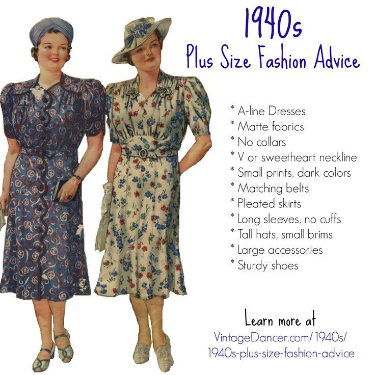 1940s Plus Size Fashion Style Advice From 1940s To Today Vestidos Retro Retro Y Vestiditos