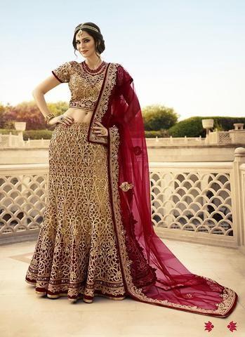 Brown Shimmer Bridal Buy Lehenga Online ,Indian Dresses - 1