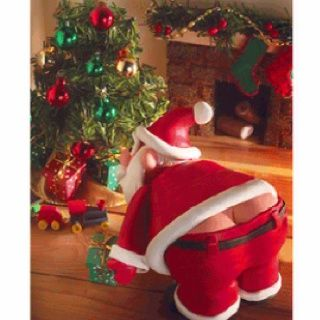 Santas plumbers crack! Haha