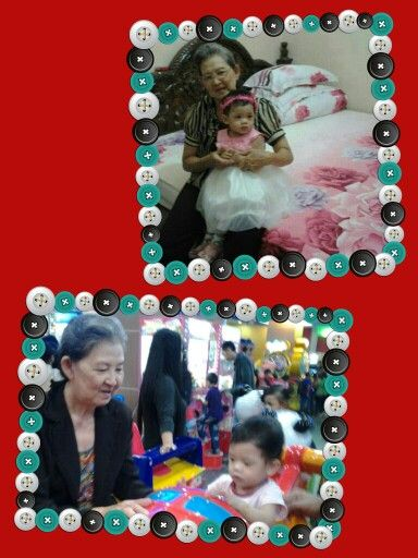 With her granny♡♥♡