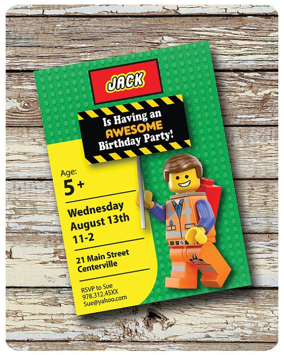 Hey, I found this really awesome Etsy listing at https://www.etsy.com/listing/206007044/lego-movie-invitation-lego-invitation