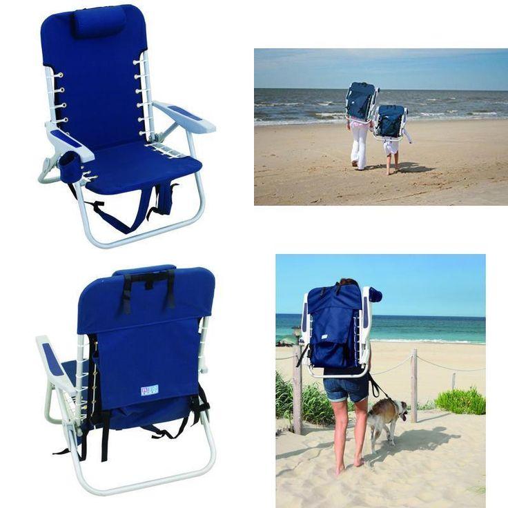 Folding Beach Chair Gravity Outdoor Lounge Patio Lawn Recliners Camping Portable #RioBeach