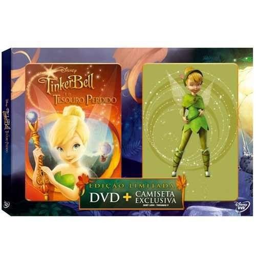 DVD - Tinker Bell e o Tesouro Perdido + Camiseta Exclusiva