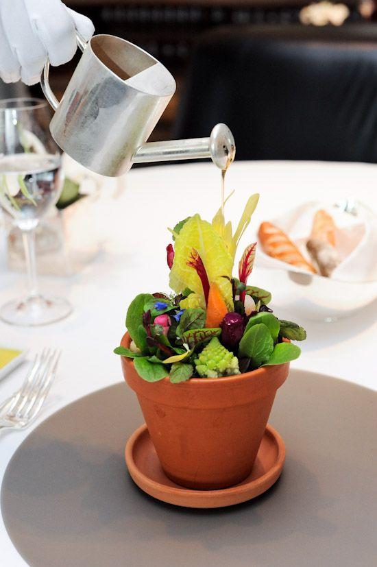 Flower Pot Salad, Mandarin Grill (Mandarin Oriental Hong Kong), taken from ladyironchef.com