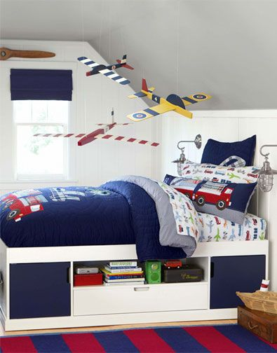 Boy S Bedroom From Potterybarnkids Com Things That Zoom Vroom And Soar