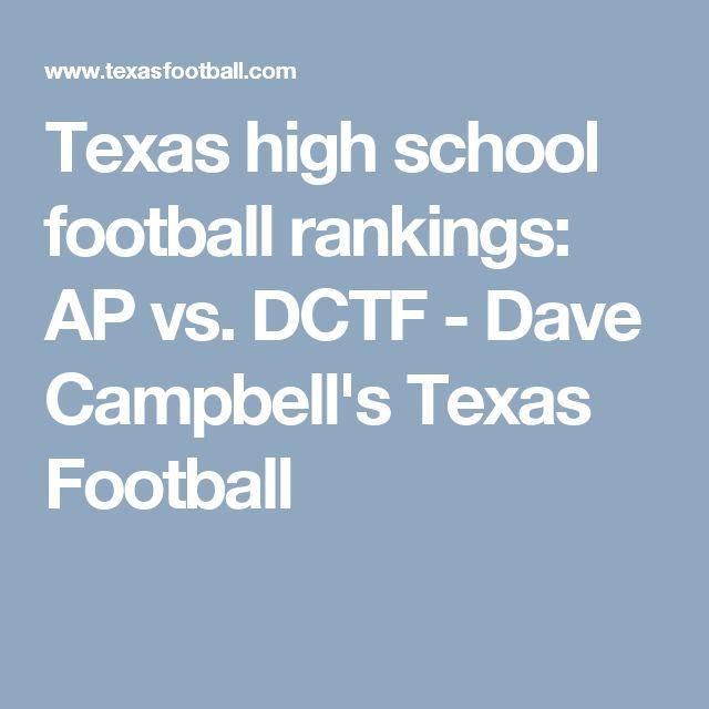 Texas high school football rankings: AP vs. DCTF - Dave Campbell's Texas Football