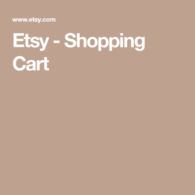 Etsy - Shopping Cart