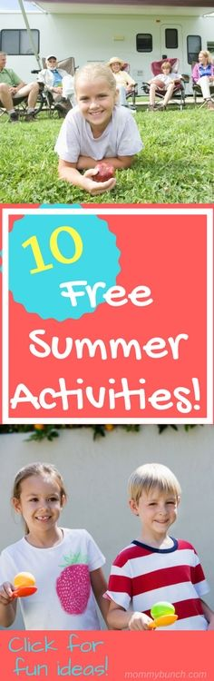Looking to have fun close to home this summer with activities that are low or no cost? It may take a little planning on your part, but it's easy to entertain the kids on a low budget with these activities to do in the summer. Here are ten activities that won't cost you anything and are tons of fun to do with the kids!