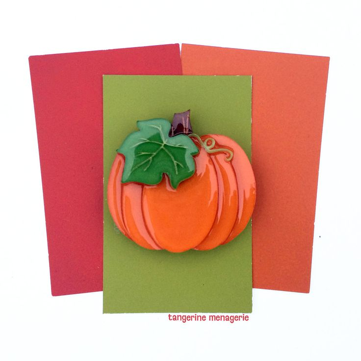 Halloween Autumn Pumpkin Vintage-Inspired Novelty Brooch by Tangerine Menagerie on Etsy