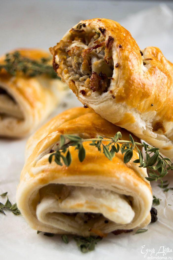 Рулетики со свининой и яблоками - видеорецепт   Кулинарные рецепты от «Едим дома!»