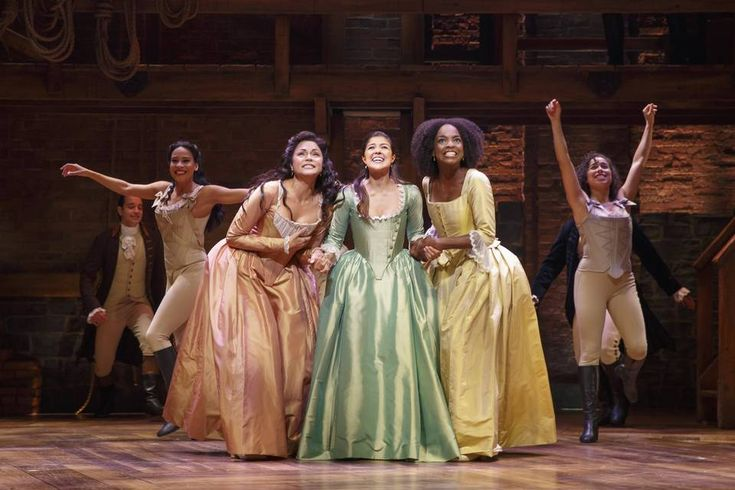 'Hamilton' Chicago cast members, from left: Karen Olivo, Ari Afsar, Samantha Marie Ware...