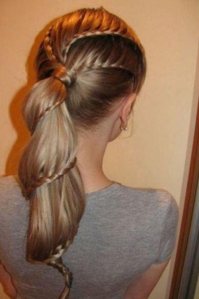 Cute hair style for long hair.