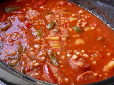 Crockpot - Serbische Bohnensuppe im Pott