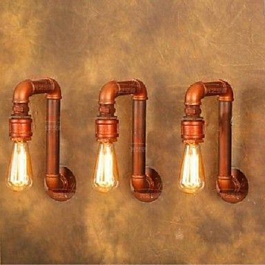 Vila Americana parede industrial luzes criativas retro lâmpadas tubulação de água 220--240v – EUR € 82.74