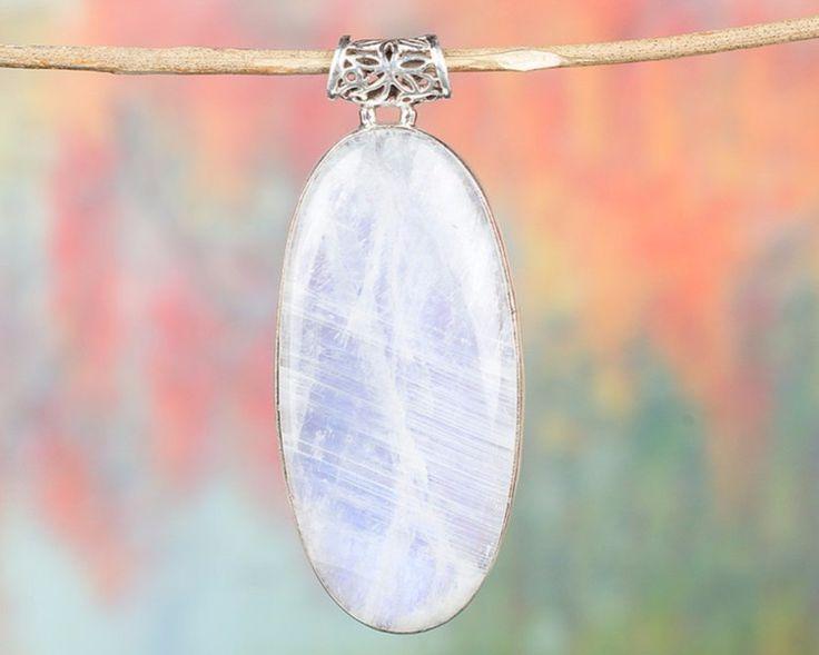 Moonstone Jewellery – Moonstone Pendant, 925 Silver Pendant, Hippie – a unique product by Midas-Jewelry on DaWanda